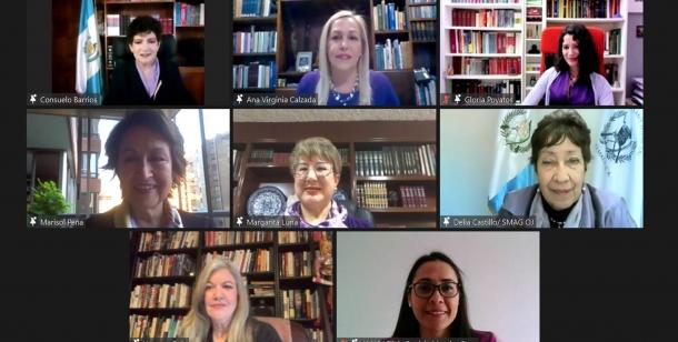 """Conmemoración del Día Internacional de la Mujer 8 de marzo Conferencia virtual """"Las Mujeres en la Construcción de la Democracia en el Marco de la Justicia Abierta"""""""