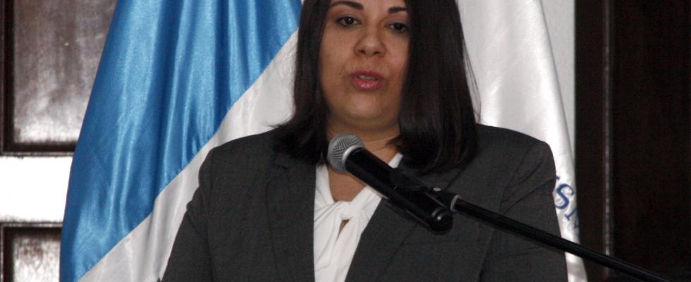 Consejera Licda. Martha María Valdés Rodas en la Inauguración de la Evaluación Jurídica en Plataforma Educativa del XVI PROFINS 2018