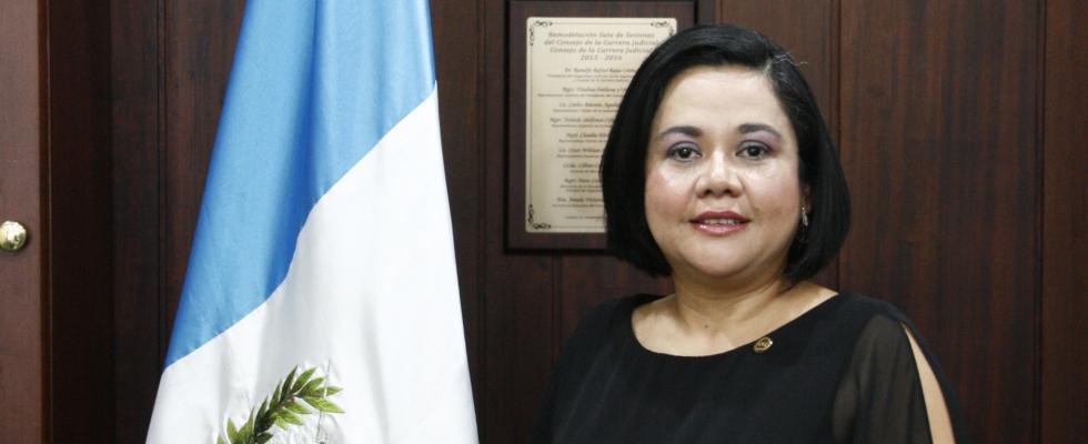 Representante Titular  de la Asamblea General de Magistrados de Corte de Apelaciones y otros Tribunales de Igual Categoría, MSc. Gilma Valladares Orellana