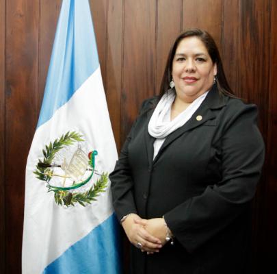 Consejera Titular del Consejo de la Carrera Judicial  con Licenciatura en Psicología, Licenciada Liza Marjorie González Muralles
