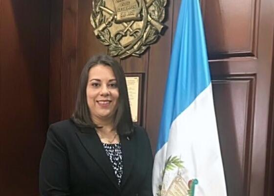 Representante Titular de la Asamblea General de Jueces de Paz, Licenciada Martha María Valdés Rodas