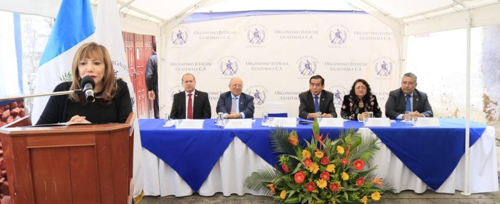Organismo Judicial  Inaugura  Juzgado de Paz en Totonicapán