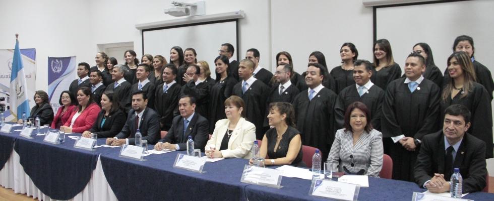 Clausura del XV Programa de Formación Inicial para Aspirantes a Jueces de Primera Instancia, Año 2018.