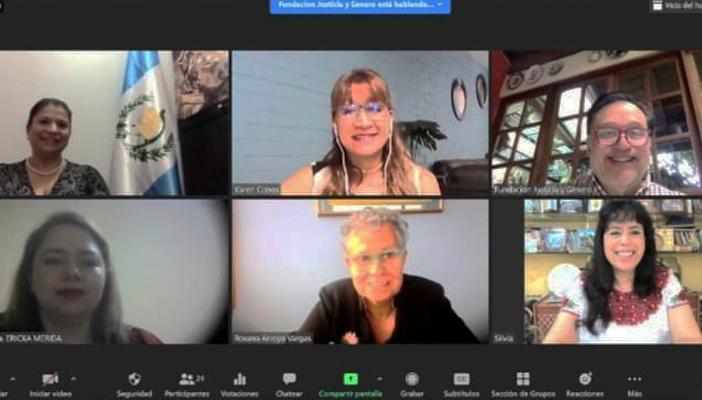 Realizan conferencia virtual sobre pensiones alimenticias.