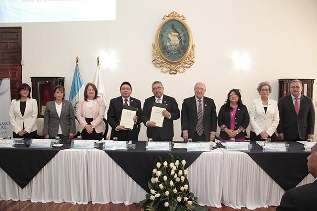 Organismo Judicial y Corte de Constitucionalidad firman convenio de cooperación