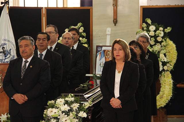 Exequias fúnebres en honor a la Magistrada Elizabeth Mercedes García Escobar